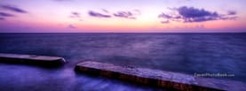 Purple Sunset Beach Clouds Blur, Free Facebook Timeline Profile Cover, Places