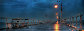 Rainy Deck Bridge Lights, Free Facebook Timeline Profile Cover, Places