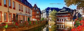 Strasbourg France Houses on Water, Free Facebook Timeline Profile Cover, Places