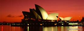 Sydney Opera House Australia Night, Free Facebook Timeline Profile Cover, Places