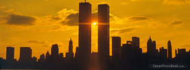Twin Towers Dark Sunset, Free Facebook Timeline Profile Cover, Places