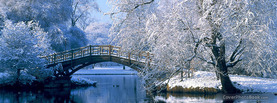 Winter Ice Bridge, Free Facebook Timeline Profile Cover, Places