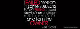 Bill Gates Failed Quote, Free Facebook Timeline Profile Cover, Quotes