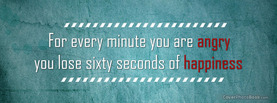 Every Minute Angry Lose Happy, Free Facebook Timeline Profile Cover, Quotes