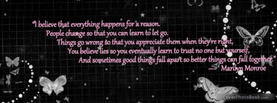Everything happens for a reason, Free Facebook Timeline Profile Cover, Quotes