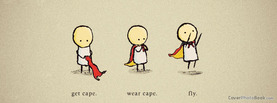 Get Cape Wear Fly, Free Facebook Timeline Profile Cover, Quotes