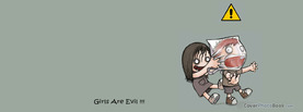 Girls are Evil, Free Facebook Timeline Profile Cover, Quotes