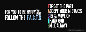 Happy FACTS, Free Facebook Timeline Profile Cover, Quotes