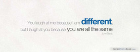 I am different, Free Facebook Timeline Profile Cover, Quotes