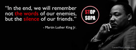 Martin Luther Sop SOPA, Free Facebook Timeline Profile Cover, Quotes