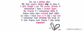 Unperfect, Free Facebook Timeline Profile Cover, Quotes