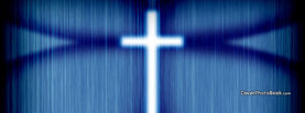 Blue Shining Christian Cross Lines, Free Facebook Timeline Profile Cover, Religion