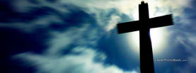 Blurry Sky Cross Silhouette, Free Facebook Timeline Profile Cover, Religion