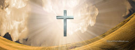 Christian Symbol Silver Cross Floating Landscape, Free Facebook Timeline Profile Cover, Religion