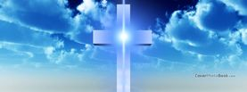 Cross in Clouds Blue Light, Free Facebook Timeline Profile Cover, Religion