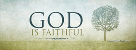 God Is Faithful Tree, Free Facebook Timeline Profile Cover, Religion