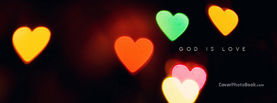 God Is Love Light Hearts, Free Facebook Timeline Profile Cover