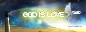 God Is Love Lighthouse Dove, Free Facebook Timeline Profile Cover, Religion