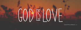 God Is Love Sunset Blur, Free Facebook Timeline Profile Cover