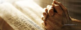 Hands Praying on Bible, Free Facebook Timeline Profile Cover, Religion
