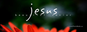 Jesus Beautiful Saviour Red Flower, Free Facebook Timeline Profile Cover, Religion