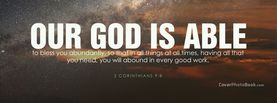 Our God Is Able to Bless You, Free Facebook Timeline Profile Cover, Religion