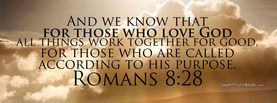 Romans 8-28 Quote, Free Facebook Timeline Profile Cover, Religion