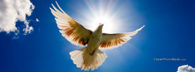 White Dove in Light Sky, Free Facebook Timeline Profile Cover, Religion