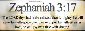 Zephaniah 3-17 Quote, Free Facebook Timeline Profile Cover, Religion