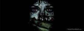 Girl Face Dark Hand, Free Facebook Timeline Profile Cover, Strange