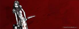 Girl Knife Blood, Free Facebook Timeline Profile Cover, Strange