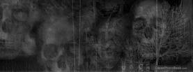 Skull Crosses Trees Grunge, Free Facebook Timeline Profile Cover, Strange