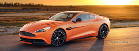 Aston Martin Vanquish Orange, Free Facebook Timeline Profile Cover, Vehicles