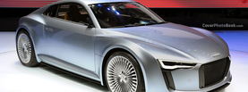 Audi R4 e Tron Silver, Free Facebook Timeline Profile Cover, Vehicles