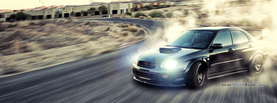 Black Subaru Impresa STI Drifting, Free Facebook Timeline Profile Cover, Vehicles