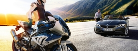 Bmw Z4 Bike and Car, Free Facebook Timeline Profile Cover, Vehicles