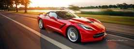 Chevrolet Corvette Stingray Speeding, Free Facebook Timeline Profile Cover, Vehicles
