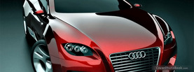 Concept Audi Red Car, Free Facebook Timeline Profile Cover, Vehicles