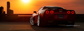 Corvette Stingray Sunset Back, Free Facebook Timeline Profile Cover, Vehicles