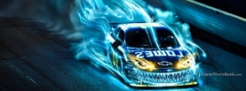 Drifting Car Blue Fire, Free Facebook Timeline Profile Cover, Vehicles