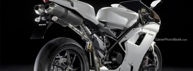 Ducati 1198 White, Free Facebook Timeline Profile Cover, Vehicles