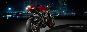 Ducati Red Night City, Free Facebook Timeline Profile Cover, Vehicles
