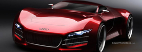 Future Audi Car Red, Free Facebook Timeline Profile Cover, Vehicles