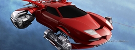 Future Space Car Red, Free Facebook Timeline Profile Cover, Vehicles