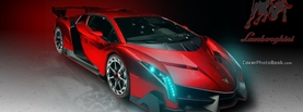 Lamborghini Veneno Red, Free Facebook Timeline Profile Cover, Vehicles