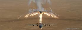 Lockheed AC 130 Gunship Flares, Free Facebook Timeline Profile Cover, Vehicles