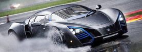 Marussia B2 Drifting Rain, Free Facebook Timeline Profile Cover, Vehicles