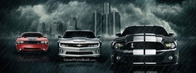 Muscle Cars Rain City, Free Facebook Timeline Profile Cover, Vehicles