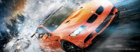 Orange BMW in Snow, Free Facebook Timeline Profile Cover, Vehicles