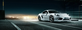 Porsche Cayman White Night, Free Facebook Timeline Profile Cover, Vehicles